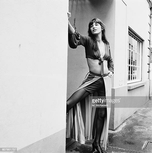English actress and singer Jane Birkin February 1971