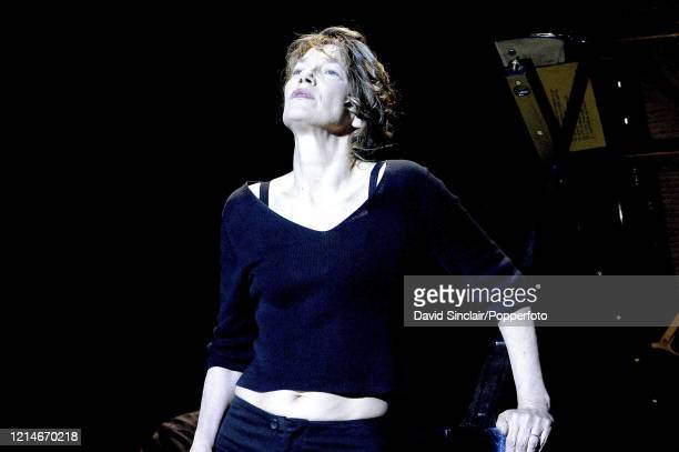 English actress and singer Jane Birkin performs live on stage at the Dome in Brighton England on 20th May 2003