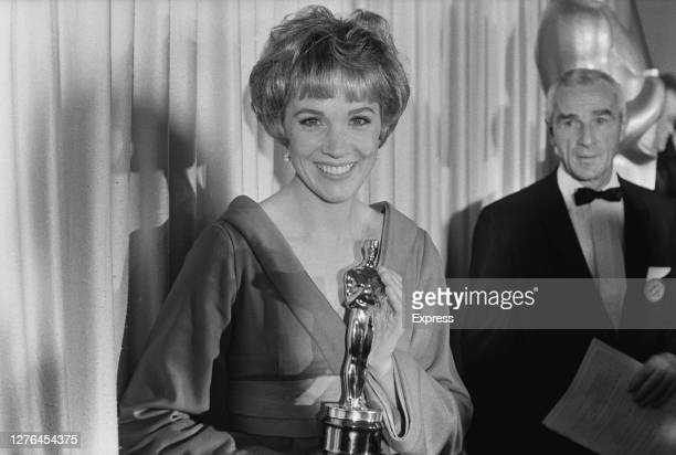 English actress and singer Julie Andrews presents the award for Best Actor at the 38th Academy Awards in Santa Monica, California, 18th April 1966.