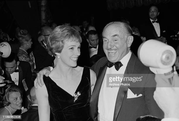English actress and singer Julie Andrews, winner of the award for Best Actress in a Comedy or Musical for her role in 'Mary Poppins', at the 22nd...