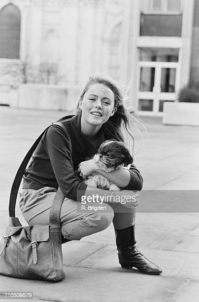 English actress and singer Patsy Kensit with her dog 15th January 1984