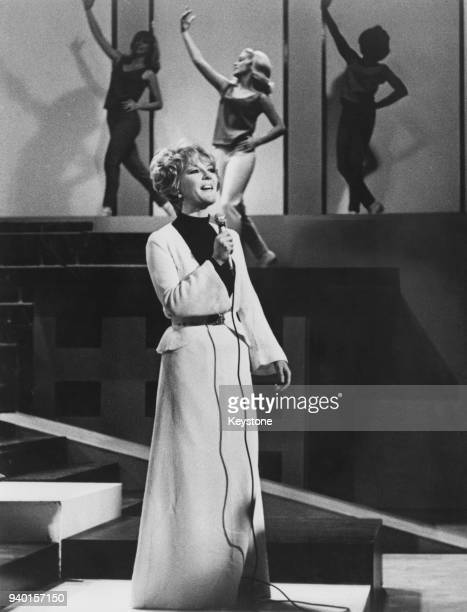 English actress and singer Petula Clark appears in 'The Big TNT Show' at the Moulin Rouge Club in Los Angeles 29th November 1965