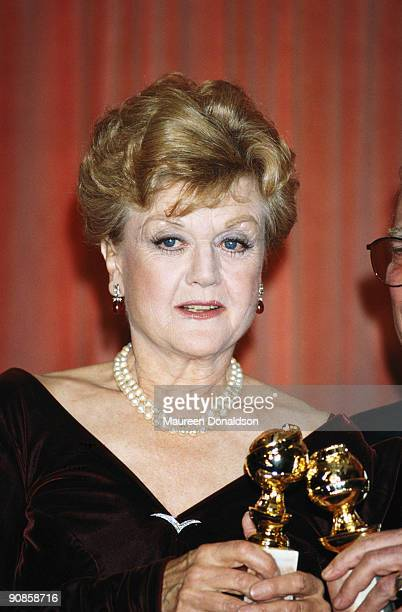 English actress Angela Lansbury wins Best Performance by an Actress in a TV Series at the Golden Globes for her role in 'Murder She Wrote' 31st...