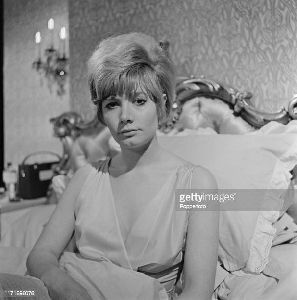 English actress Ann Bell plays the role of Ann Maitland during filming of the episode 'I Could Set It to Music' from the ABC Weekend Television drama...