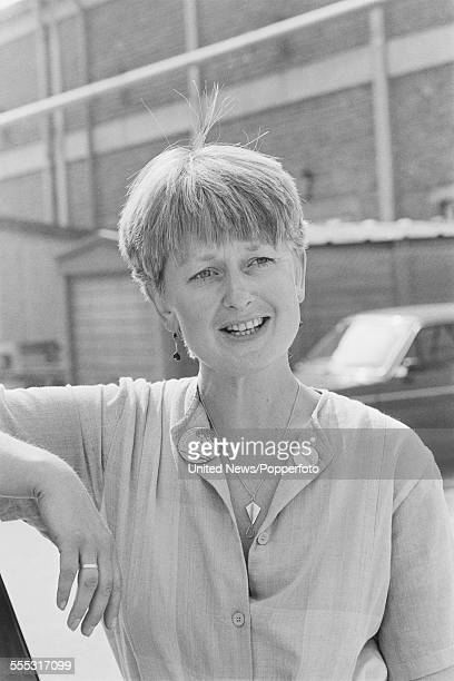 English actress Anna Carteret who plays the character of police inspector Kate Longton in the Popperfoto via Getty Images television series 'Juliet...