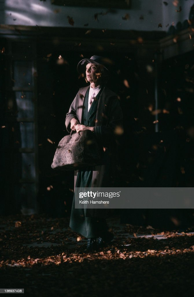 English actress Anna Massey (1937 - 2011) in a scene from the film 'Haunted', 1995.