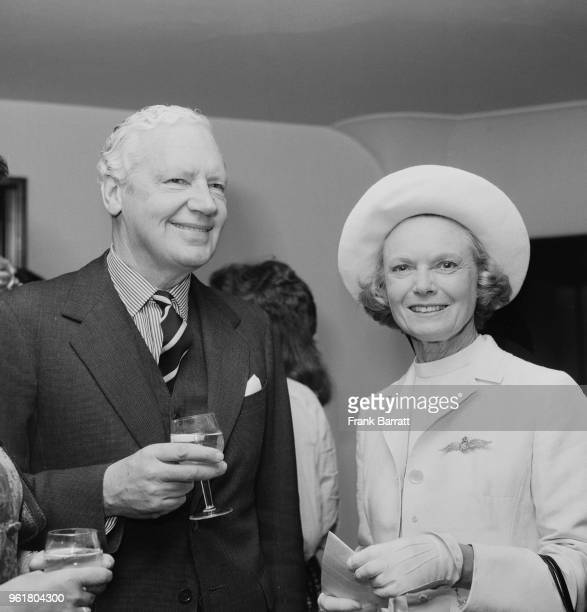 English actress Anna Neagle and Sir Alexander 'Alick' Downer the High Commissioner of Australia to the UK celebrate the upcoming Australian tour of...