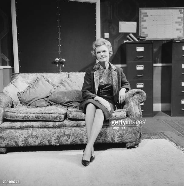English actress Anna Neagle during rehearsals for the play 'Person Unknown' at the Royal Court Theatre in Liverpool 17th February 1964 The play was...