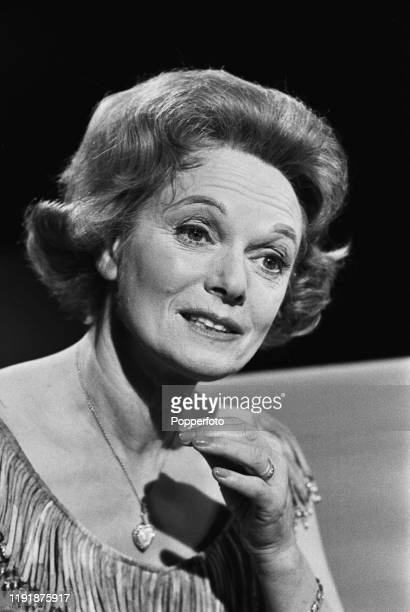English actress Anna Neagle is interviewed on a television chat show in June 1967