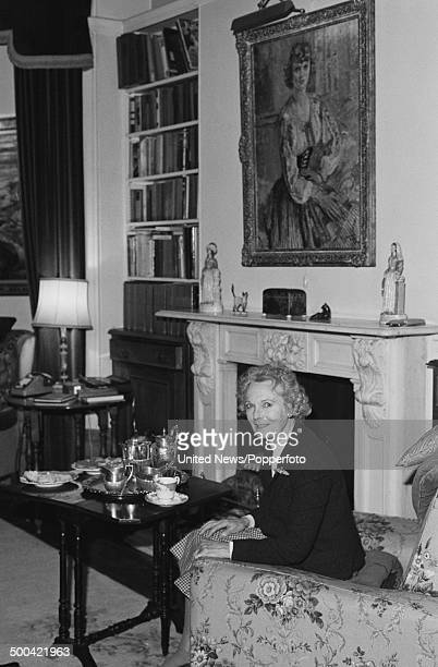 English actress Anna Neagle posed on 25th November 1985