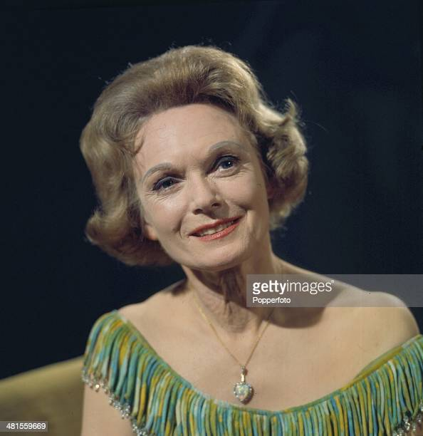 1968 English actress Anna Neagle posed on the set of a television drama production in 1968