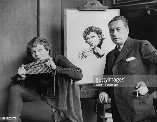 English actress Anna Neagle poses for artist A L Grace as Peter Pan at his studio in Kensington London 17th December 1937 Neagle is playing Pan in...