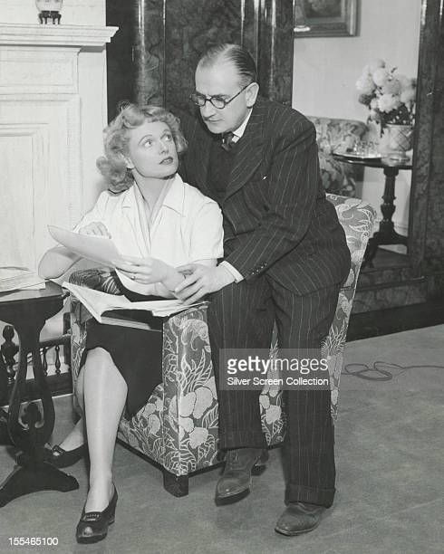 English actress Anna Neagle with her husband British film producer and director Herbert Wilcox circa 1945
