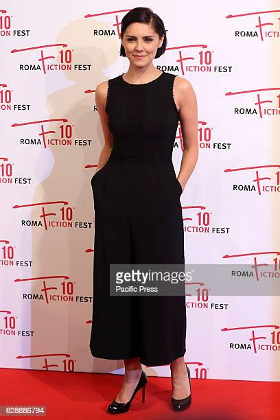 English actress Annabel Scholey during red carpet of AngloItalian fiction 'I Medici'