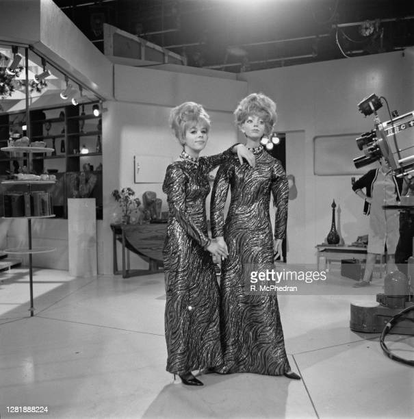 English actress Annette Robertson filming 'Andover and the Android', an episode of the BBC television science fiction series 'Out of the Unknown',...