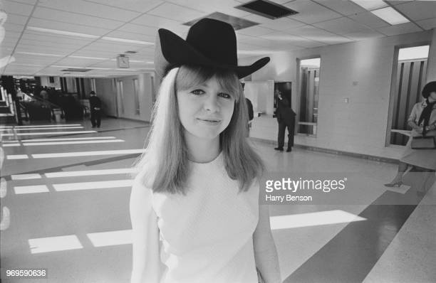 English actress author and entrepreneur Jane Asher wearing a cowboy hat Dalla US 25th April 1967