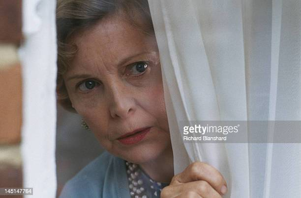 English actress Barbara Ferris as Mrs Lawson in a scene from 'The Krays' directed by Peter Medak 1990