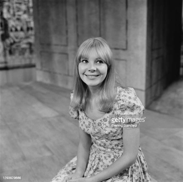 English actress Barbara Ferris during rehearsals for the play 'A Chaste Maid in Cheapside' by Thomas Middleton at the Royal Court Theatre in London,...
