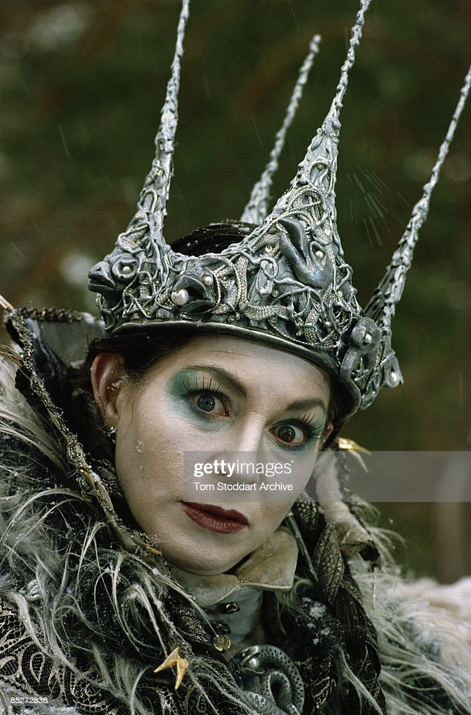 English actress Barbara Kellerman as the White Queen in a TV adaptation of 'The Lion, the Witch and the Wardrobe', 1988.