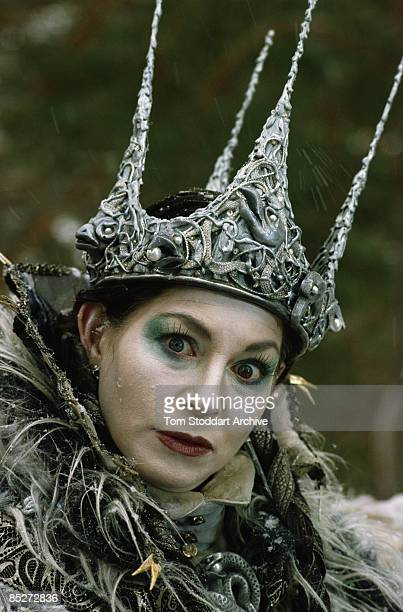 English actress Barbara Kellerman as the White Queen in a TV adaptation of 'The Lion the Witch and the Wardrobe' 1988