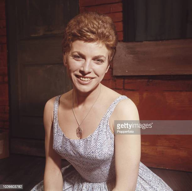 English actress Billie Whitelaw in front of a stage set in England in 1961. Billie Whitelaw would go on to be nominated Most Promising Newcomer to...
