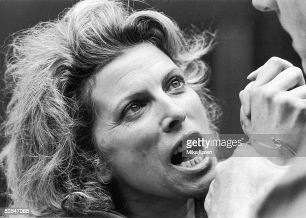 English actress Billie Whitelaw in 'The Greeks' a trilogy of plays adapted from the plays of Aristophanes and Sophocles at the Royal Shakespeare...
