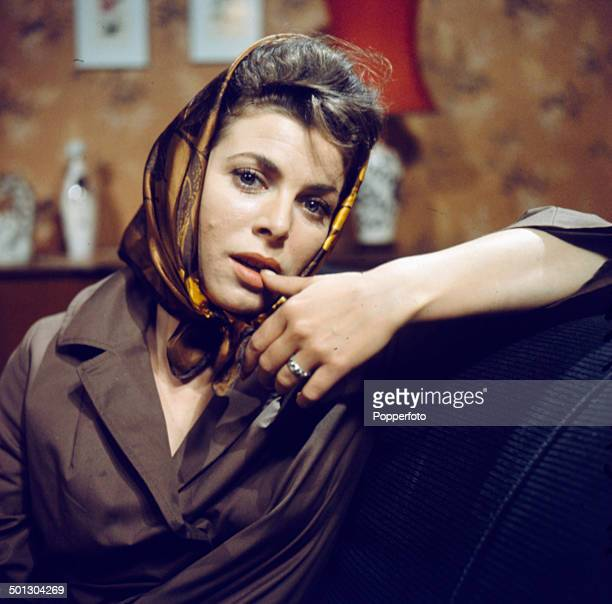 English actress Billie Whitelaw pictured on the set of the television drama series 'Armchair Theatre - The Pity of it All' in 1966.