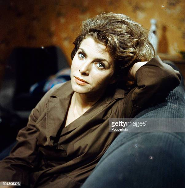 English actress Billie Whitelaw pictured on the set of the television drama series 'Armchair Theatre The Pity of it All' in 1966