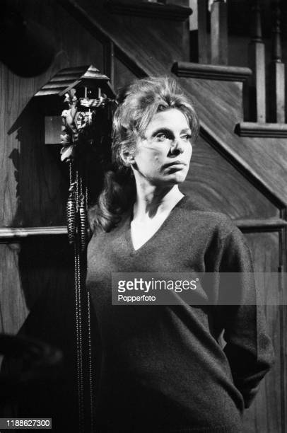 English actress Billie Whitelaw plays the role of Joyce during filming of the drama series 'Armchair Theatre - A World of Time' for ABC Weekend...