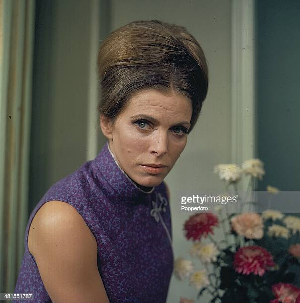 1968 English actress Billie Whitelaw posed on the set of the television drama series 'Armchair Theatre You and Me' in 1968