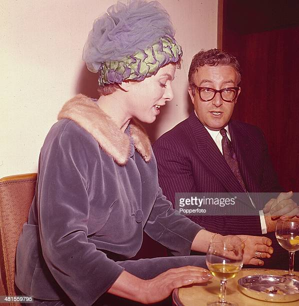 1968 English actress Billie Whitelaw posed with British actor and comedian Peter Sellers in 1968