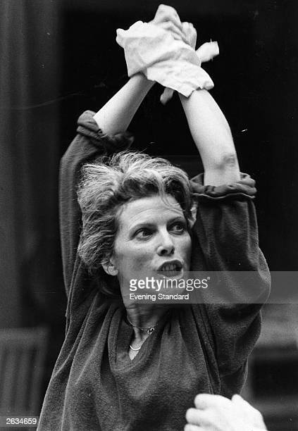 English actress Billie Whitelaw rehearsing for the Royal Shakespeare Company production of 'The Greeks' Original Publication People Disc HM0266