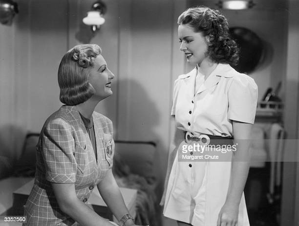 English actress Binnie Barnes and Arleen Whelan star in the film 'Gateway' directed by Alfred L Werker and produced by 20th Century Fox