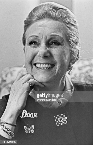 English actress Binnie Barnes , UK, 30th November 1973. She starred in the film comedy '40 Carats' that year, her last acting role.