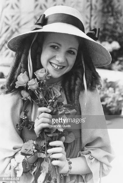 English actress Bonnie Langford star of 'Just William' receives a 'Rose of the Year' at the Chelsea Flower Show in London 22nd May 1978