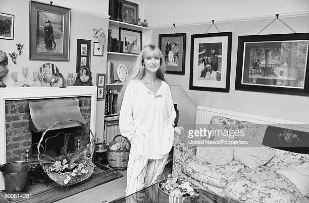 English actress Carol Royle pictured at home on 1st August 1985