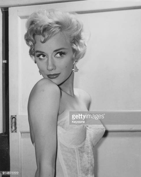 English actress Carole Lesley , star of the film 'Dangerous Youth', 12th January 1957.