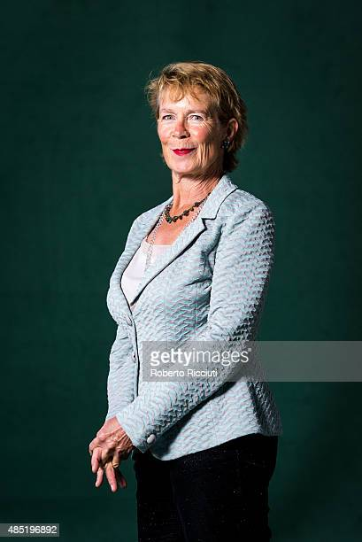 English actress Celia Imrie attends a photocall at Edinburgh International Book Festival on August 25 2015 in Edinburgh Scotland