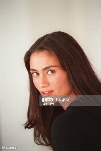 English actress Charlotte Lewis who has recently moved from London to Los Angeles to live photographed on July 28 1999 at the Mondrian Hotel...