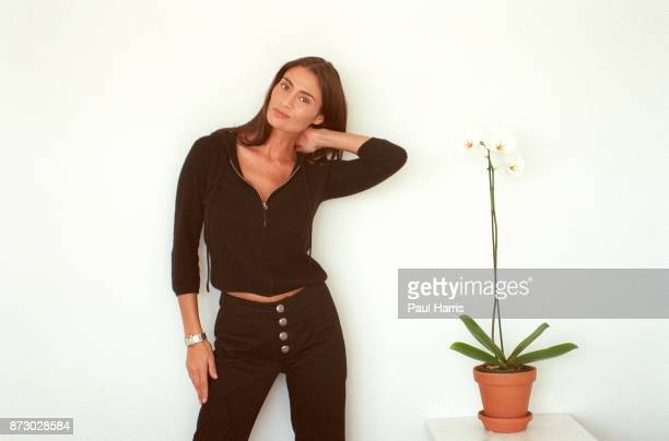 English actress Charlotte Lewis who has recently moved from London to Los Angeles to live, photographed on July 28, 1999 at the Mondrian Hotel,...