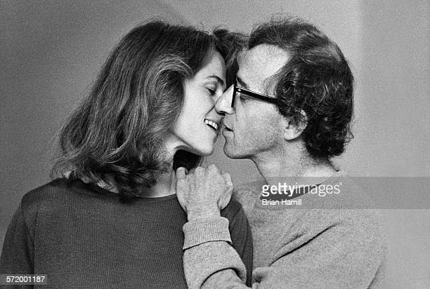 English actress Charlotte Rampling and actor & director Woody Allen on the set of their film, 'Stardust Memories,' 1980.