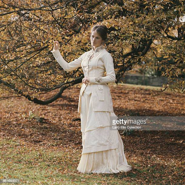 English actress Charlotte Rampling in costume as the title character for the TV play 'Zinotchka' directed by Christopher Miles and based on a short...