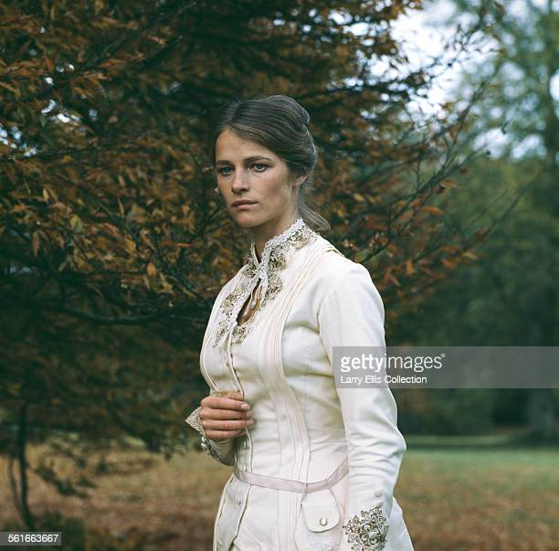 English actress Charlotte Rampling in costume as the title character for the TV play 'Zinotchka', directed by Christopher Miles and based on a short...