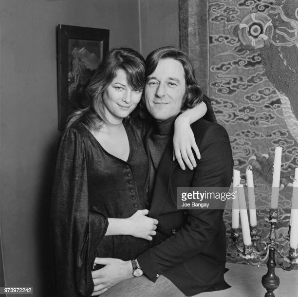 English actress Charlotte Rampling pictured with her manager and fiance Bryan Southcombe on 1st February 1972.