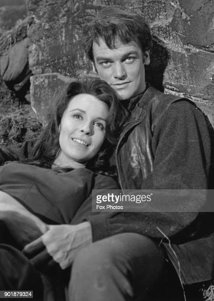 English actress Claire Bloom and actor Keith Michell as Cathy and Heathcliff in a scene from a BBC production of 'Wuthering Heights' 15th February...