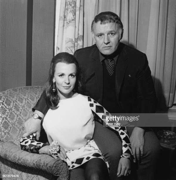 English actress Claire Bloom and her husband actor Rod Steiger in London for the filming of 'Three into Two Won't Go' May 1968