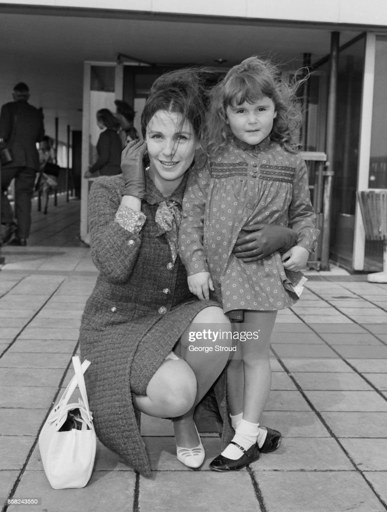 English Actress Claire Bloom With Her Daughter Anna