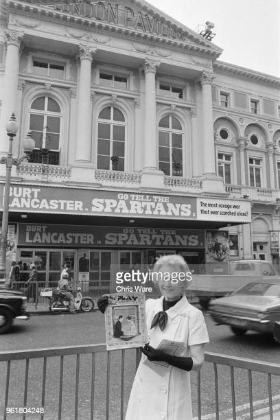 English actress Dame Anna Neagle joins in the campaign to Save London's Theatres 12th July 1978 She is standing outside the Pavilion Theatre in...