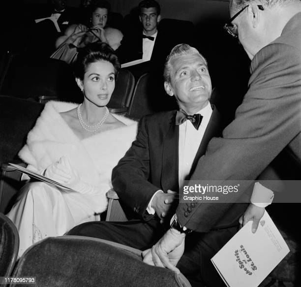 English actress Dana Wynter and her husband attorney Greg Bautzer attend the premiere of the film 'The Spirit of St Louis' at Grauman's Egyptian...