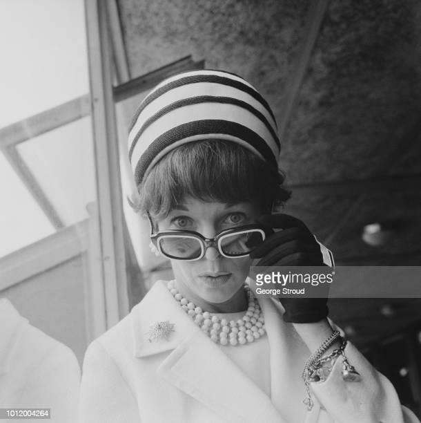 English actress Dawn Addams at Heathrow Airport UK 11th June 1966